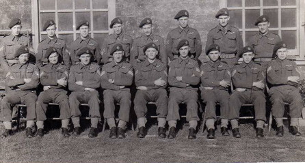Top Row - Austin, Barker, Billinge, Davidson, East, Fairgrieve, Lt Hanson, Howard.  Bottom Row -  Legrande, Lewis, Lovett, Martin, Pitcock, Richards, Redknap, Wallwork, Wilson